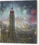 Nyc. Empire State Building Wood Print