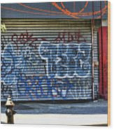 Nyc Graffiti Wood Print