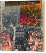 Nyc Papercut No.2 Wood Print