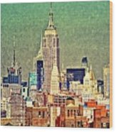 Nyc Scaped Wood Print