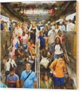 Nyc Subway Wood Print