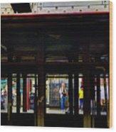 Nyc Subway Platform 283 Wood Print