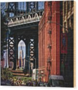 Nyc Summer Postcard Wood Print
