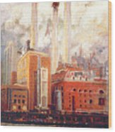 Nyc- View From East River  Wood Print