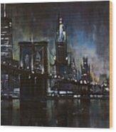 N.y.city Wood Print