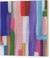 Nyhavn- Abstract Painting Wood Print