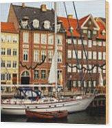 Nyhavn Area Of Copenhagen Wood Print
