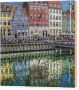 Nyhavn Harbor Area, Copenhagen Wood Print