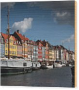 Nyhavn In Copenhagen Wood Print