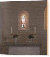 Nyker Round Church Altar Wood Print