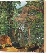 Nymph Forest Wood Print