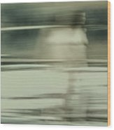 Nymph Walking On Water Wood Print