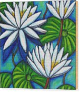 Nymphaea Blue Wood Print