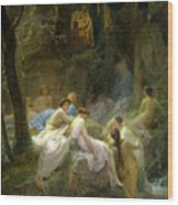 Nymphs Listening To The Songs Of Orpheus Wood Print