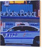 Nypd Color 16 Wood Print by Scott Kelley