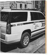 nypd police bomb squad gmc yukon xl vehicle New York City USA Wood Print