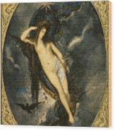 Nyx Night Goddess Wood Print