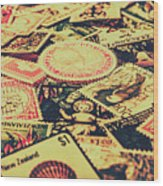 Nz Post Background Wood Print