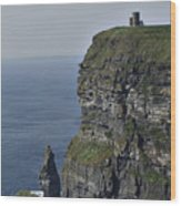 O Brien's Tower At The Cliffs Of Moher Ireland Wood Print
