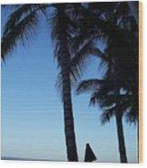 Oahu Beach Wood Print