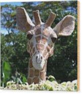 Oahu Giraffe Wood Print