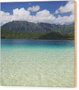 Oahu, Kaneohe Bay Wood Print