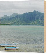 Oahu, Kaneohe Bay Wood Print