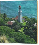 Oahu Lighthouse Wood Print