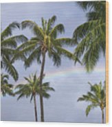 Oahu, Rainbow Wood Print