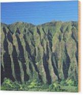 Oahu Rugged And Lush Wood Print