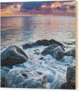 Oahu Shoreline Wood Print