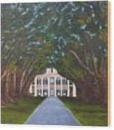 Oak Alley Plantation Wood Print