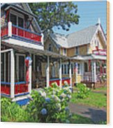 Oak Bluffs Gingerbread Cottages 1 Wood Print