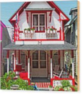 Oak Bluffs Gingerbread Cottages 2 Wood Print