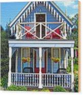 Oak Bluffs Gingerbread Cottages 4 Wood Print