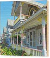 Oak Bluffs Gingerbread Cottages 5 Wood Print