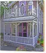 Oak Bluffs Gingerbread Cottages 7 Wood Print
