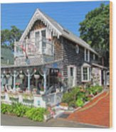 Oak Bluffs Gingerbread Cottages 8 Wood Print