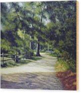 Oak Court, East Marion Wood Print