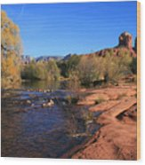 Oak Creek Autumn Wood Print by Gary Kaylor