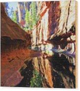 Oak Creek Canyon 1 Wood Print
