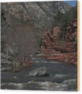 Oak Creek Surging Wood Print
