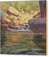 Oak Creek Tributary Wood Print