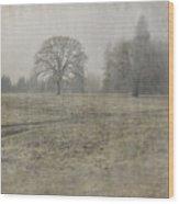 Oak Field Wood Print