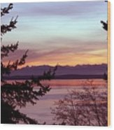Oak Harbor Sunset 1016 Wood Print