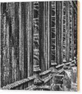 Oak Hill Cemetery Fence Wood Print
