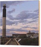Oak Island Lighthouse Wood Print