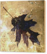 Oak Leaf Underwater Wood Print