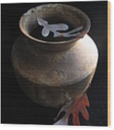 Oak Leaves And Urn Wood Print
