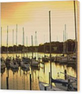 Oak Point Harbor Wood Print
